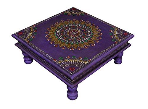 Mini Tabouret Peint Table en Bois décoratif Nursery Lieu-Pieds 33 x 33 x 14 cm