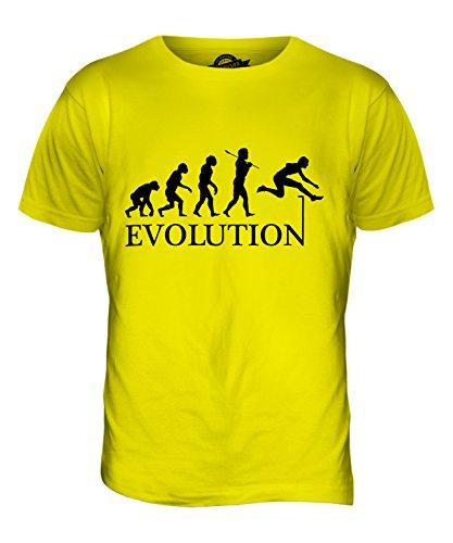 CandyMix Hürdenlauf Evolution Des Menschen Herren T Shirt Zitronengelb