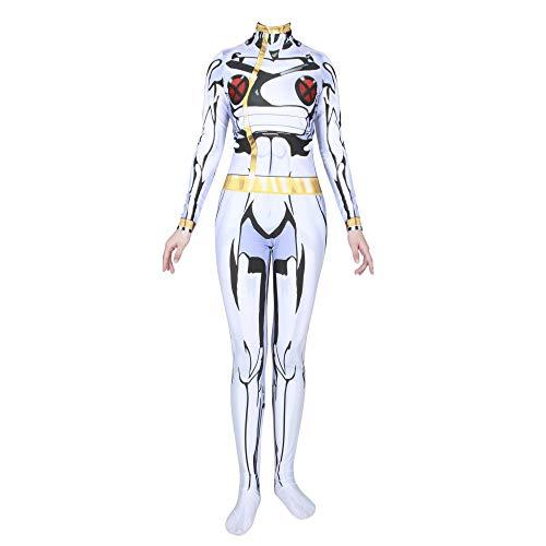 iele Film Kostüm Requisiten Anime Halloween Kostüme Cosplay Kostüme Krieg Phantom Katze Schmetterling Sturm Weibliche Cosplay Siamesische All-Inclusive-Strumpfhose,White-M ()
