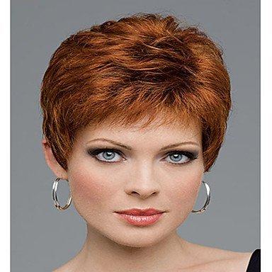 Js-wigs Perruque synthétique ondulée pour femme Capless court Cheveux synthétiques