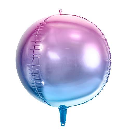 Ombre Folienballon Kugel in Violett-Blau, Größe: 35cm, Helium Ballon Geburtstag Dekoration (Blaue Dekorationen Kugeln)