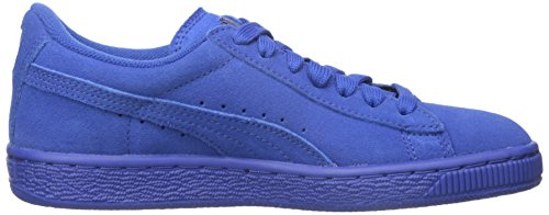 Puma High Risked Black White Suede Youths Trainers Monaco Blue/Monaco Blue