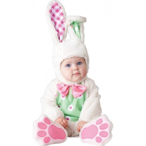 Kostüm Häschen Deluxe - Fancy Me Deluxe Baby Jungen Mädchen Weiß Ostern Häschen Charakter Halloween Kostüm Kleid Outfit - Weiß, 12-18 Monate
