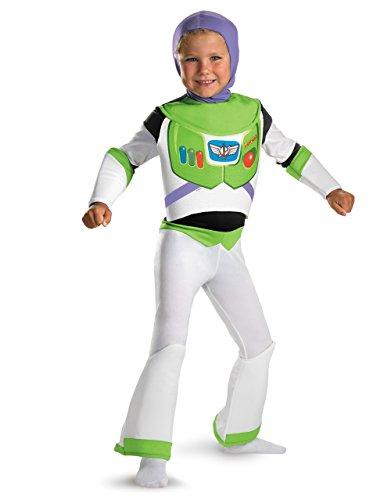 Buzz Lightyear Deluxe Kostüm, Kinder Toy Story Outfit, klein, Alter 4–6Jahre, Höhe 4'0cm–4' 11/5,1cm
