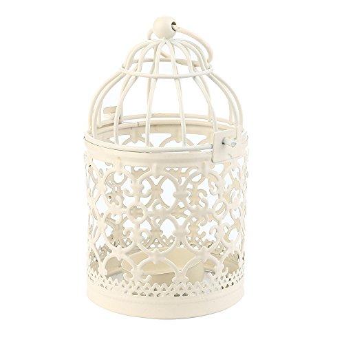 HUYURI – Kerzenhalter Hollow Holder Teelicht Kerzenhalter Hängelaterne Vintage Vogel Käfig Schmiede Fein B