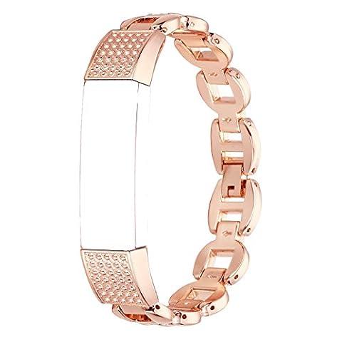 Bracelet Fitbit Alta HR, Bracelet Fitbit Alta Rosa Schleife®Montre Connectée