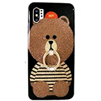 Samsung Cute Cartoon Case,Aulzaju Galaxy Beauty Bling Lovely Soft Slim Shockproof Bear Case with Ring Stand for iPhone for Girls Women samsung galaxy note 10 plus multicolored