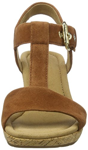 Gabor Shoes Comfort, Sandali con Zeppa Donna Marrone (whisky Grata)