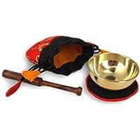 Mini - Klangschalen Set in rotem Beutel -5086-