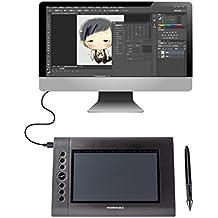 HUION H610 Tavoletta Grafica professionale digitale Compresse la penna grafica con 8 tasti-express