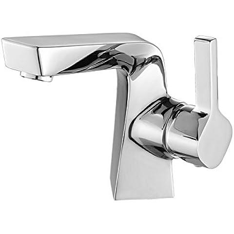 Rame moderno bagno cromato rubinetto, bacino rubinetto acqua calda e fredda, rubinetti di lavandino