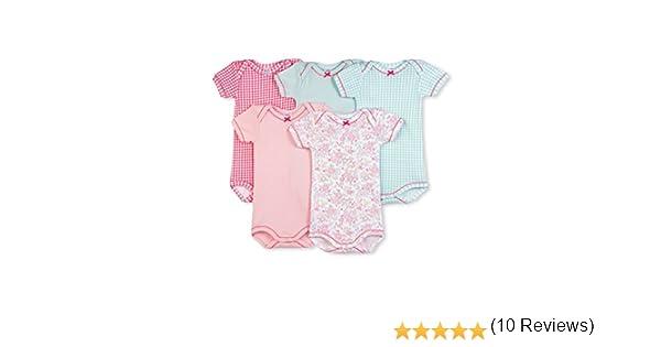 Petit Bateau 17328 - Body - Manches courtes - Lot de 5 - Bébé fille -  Multicolore (Spécial Lot 00) - FR  18 mois (Taille fabricant  18 mois)   Amazon.fr  ... cbce12882da