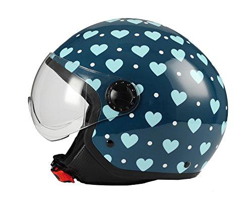 Zoom IMG-3 casco moto bhr demi jet