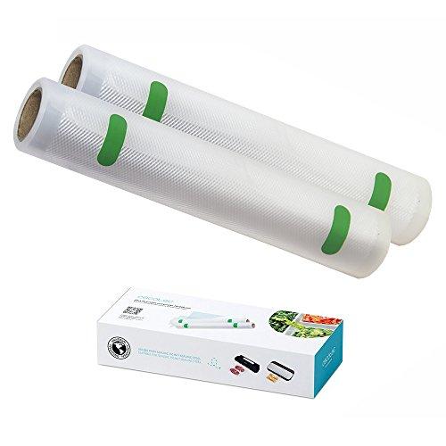 Pack de 2 rollos gofrados para envasadoras de vacío (medianos). 20 x 600 cm. cada unidad. BPA Free.