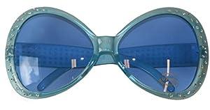 CREATIVE Grandes 70s Party Glasses diamante azul 16,5 cm luz