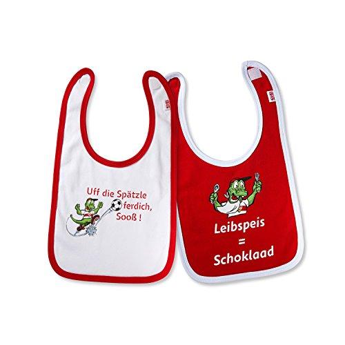 2er-Set-VFB-Stuttgart-Baby-Ltzchen-rot-weiss-100-Baumwolle-FANARTIKEL-Gre-ONESIZE