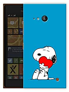 """Humor Gang Cute Puppy Dog Printed Designer Mobile Back Cover For """"Nokia Lumia 730"""" (3D, Matte Finish, Premium Quality, Protective Snap On Slim Hard Phone Case, Multi Color)"""