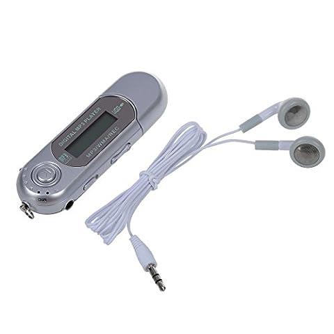SODIAL(R) 8G Cle USB Lecteur Baladeur MP3 Player FM argent