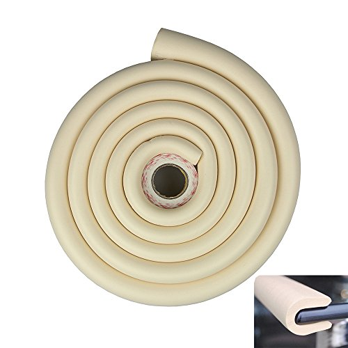 Tritina Glas Tisch Schutz Stoßfänger, 6.6ft / 2m U Typ Eckkissen Runde Kaffee Schreibtisch Startseite Sicherheit 1, Baby Wache, Kind Kinder Beweis (Milchweiß)
