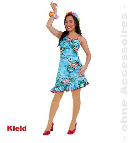 eid Hula 40 Hawaiikleid Hawaii Kleid Fasching Damen Gr 34 - 42 ()