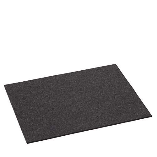 Hey Sign Tischset Filz 4-teilig rechteckig 5mm in vielen Farben Farbe:08 - Graphit -