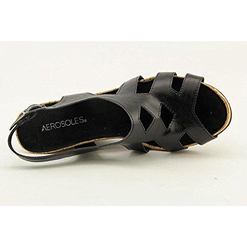 Aerosoles Palm Plush Femmes Synthétique Sandales Compensés Black