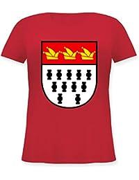 47b701c55fa02b Karneval   Fasching - Karneval Köln Wappen - Lockeres Damen-Shirt in großen  Größen mit