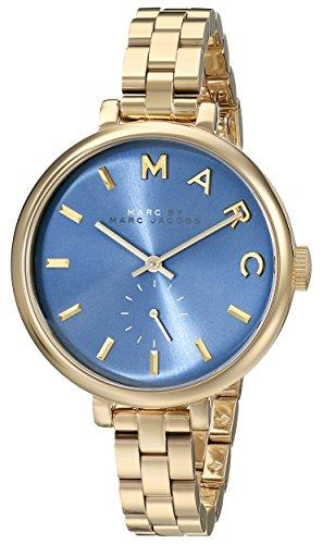 Marc Jacobs MBM336636mm dorado correa de acero y carcasa Mineral reloj de pulsera de mujer