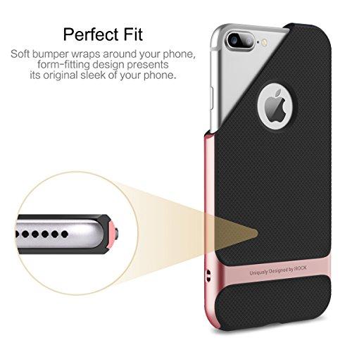 ROCK ''Royce'' iPhone 7 Plus Harte TPU Hülle Bumper Case Tasche Schutzhülle Handyhülle Shell-Schutz für Apple iPhone 7 Plus/ iPhone Pro - Grau iphone 7 plus/iphone pro Rosegold