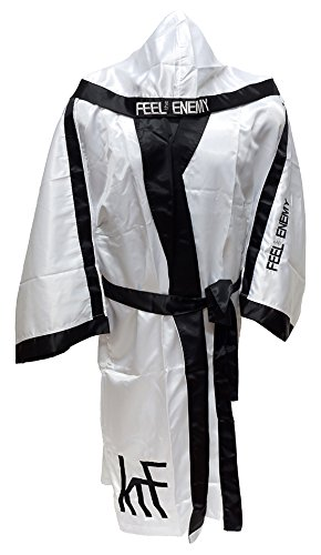 KRF Feel The Enemy 0013306 Bata Competición de Boxeo, Hombre, Blanco,