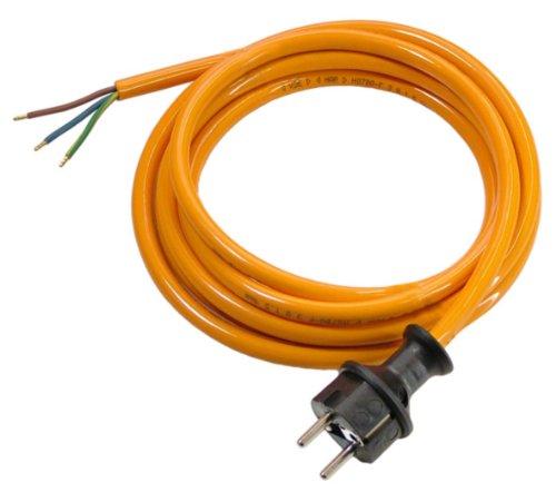 as - Schwabe PUR Baustellen-Anschlussleitung 3 m - Robuste Leitung 230 V, 16 A mit Polyurethan-Außenmantel H07BQ-F 3Gx1,5 Schuko-Stecker, EIN Ende abgemantelt - IP44 - Made in EU I 70909