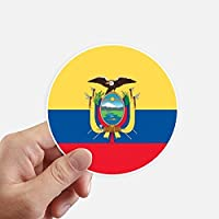 DIYthinker Ecuador Bandera Nacional América del Sur País Redondas 10cm Pared Maleta portátil Motobike Decal 8pcs