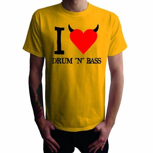 I don't love Drum'n Bass Herren T-Shirt Gelb