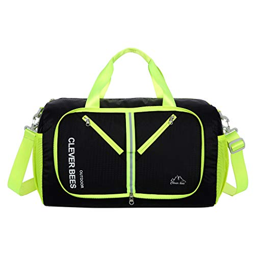 Floweworld Unisex Travel Aufbewahrungstasche Faltbare Tasche Schulter Portable Outdoor Falttasche Gepäck Sport Umhängetaschen - Gepäck Schulter Tasche
