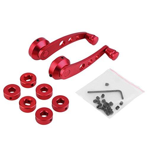 Preisvergleich Produktbild Sunnyday 2 Pcs Universal Aluminum Back Replacement Vehicle Auto SUV Truck Car Window Crank Handles Winder Riser Kit