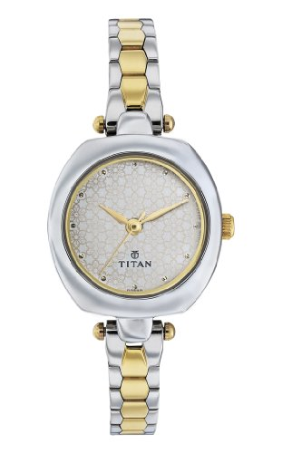 Titan Karishma Analog White Dial Women's Watch -2520BM01