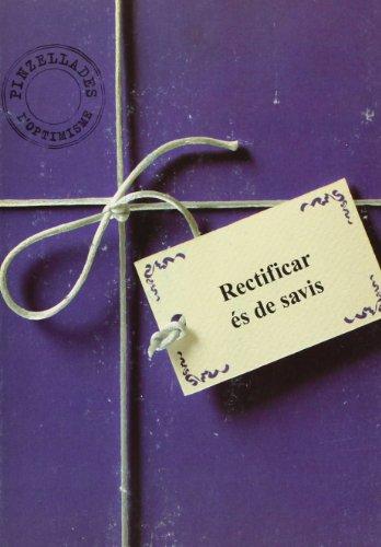 Portada del libro Rectificar és de savis (Afers de Comunicació Visual)