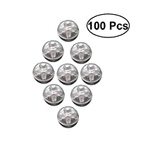 TOYMYTOY 100 PCS Mini LED Lights Balloons Paper Lanterns Lights Individual Wireless Flash Ball Lamp Wedding Party Decoration (White)