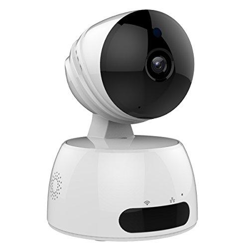 IP Kamera, SEGURO Wireless HD Sicherheitskamera mit App Wifi Überwachungskamera von 2-Wege Audio, Infrarot Nachtsicht, Bewegungserkennung, WDR, Schwenkbare, Wlan / LAN Netzwerkkamera Baby Monitor mit Alarm Informationen