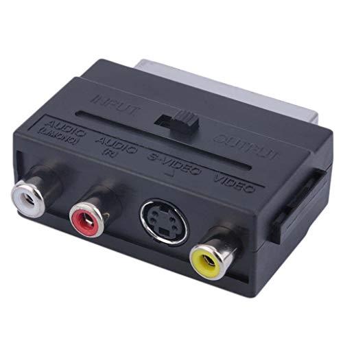 YILONG 21pin SCART 3RCA Konverter 21pin SCART-Adapter RGB Adapter RGB Scart auf Composite RCA S-Video AV TV o Adapter
