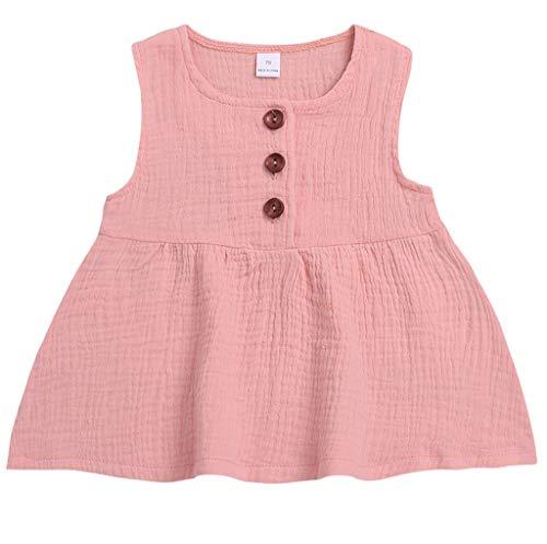 Makalon Baby Mädchen Freizeit Baumwollmischung Solide Ärmellos Schmetterlingskleid Sommerkleid Festzug Rock Sommer Kleid Kinder Mode Elegante Party Outfits Prinzessin Kleider