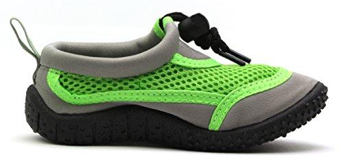 Bade Schuhe Surf EU 30 Neopren RoadStar 25 Schuhe RS Grau Sailing Aqua Gr眉n 82505C Kids Wasser Strand zw7qf0v