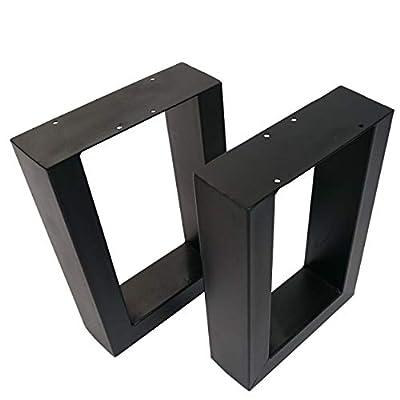 Meerweh Bankgestell Schwarz 43x30cm Sitzbank Couchtisch Untergestell Bank Metallgestell ohne Lehne von Meerweh auf Gartenmöbel von Du und Dein Garten