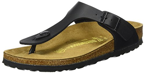Birkenstock Gizeh, Unisex - Adults Sandals, Black (Black), 5 UK (38 EU)