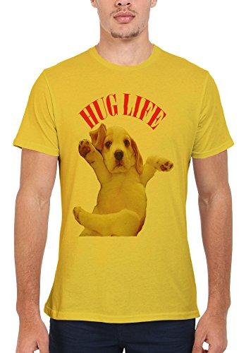 Hug Pug Life Parody Cool Funny Men Women Damen Herren Unisex Top T Shirt Licht Gelb