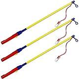 com-four 3X bâtons de Lanterne électronique, bâton de Lanterne à Piles pour Les processions de lanternes,...