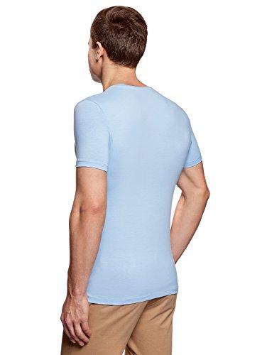 oodji Ultra Herren Tagless T-Shirt Basic (2er-Pack) Mehrfarbig (1903N)