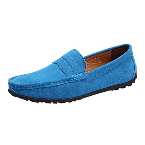 LSAltd Männer beiläufige Normallackflacher Mund einzelne Schuhe männliche Kurze Bequeme Wilde Segeltuch-obere Schuhe Faule Schuhe (Männliche Mund Spielzeug)