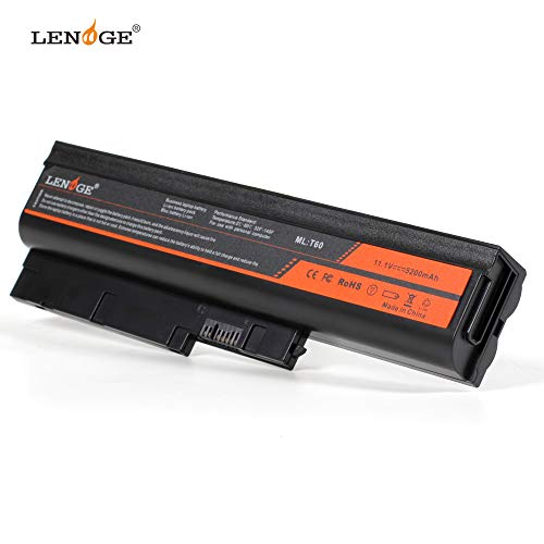 LENOGE Ersatz Laptop Akku für Lenovo ThinkPad R60 R60e R61 R61e R61i T60 T60p T61 T61p Z60m Z61e Z61m Z61p R500 SL300 41U3196 41U3198 42T4547 42T4652 (11.1V, 5200mAh)
