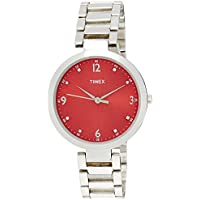 Timex Fashion Analog Red Dial Women's Watch-TW000X203